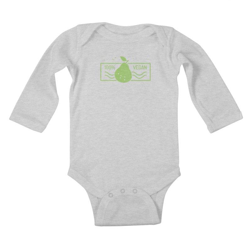 100% Vegan Kids Baby Longsleeve Bodysuit by WaWaTees Shop