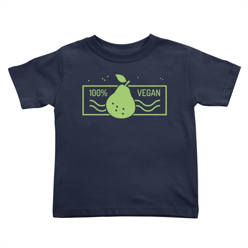 100% Vegan Kids Toddler T-Shirt by WaWaTees Shop