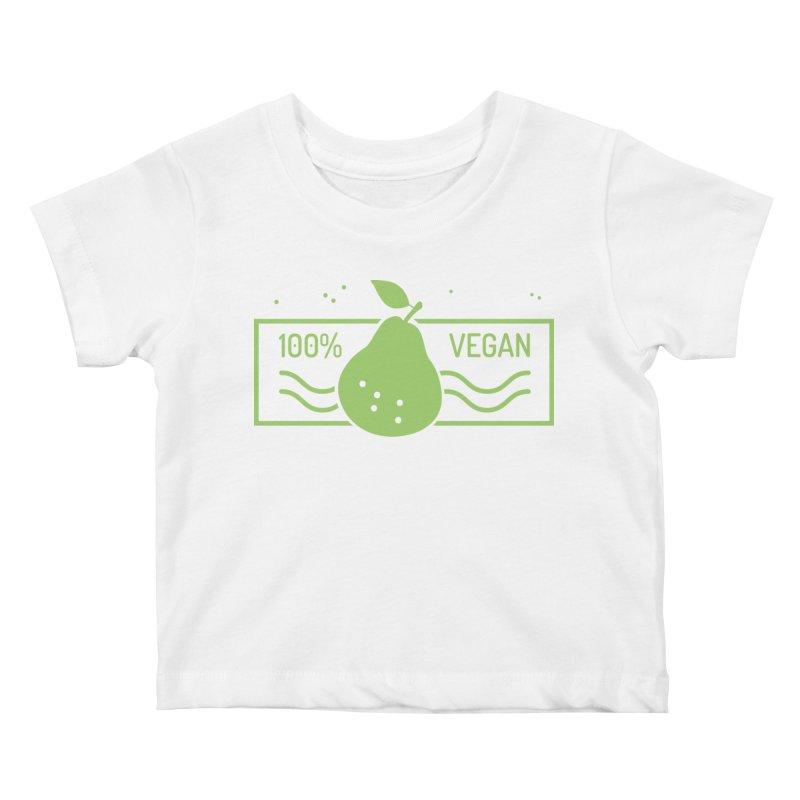 100% Vegan Kids Baby T-Shirt by WaWaTees Shop