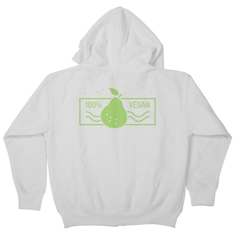 100% Vegan Kids Zip-Up Hoody by WaWaTees Shop