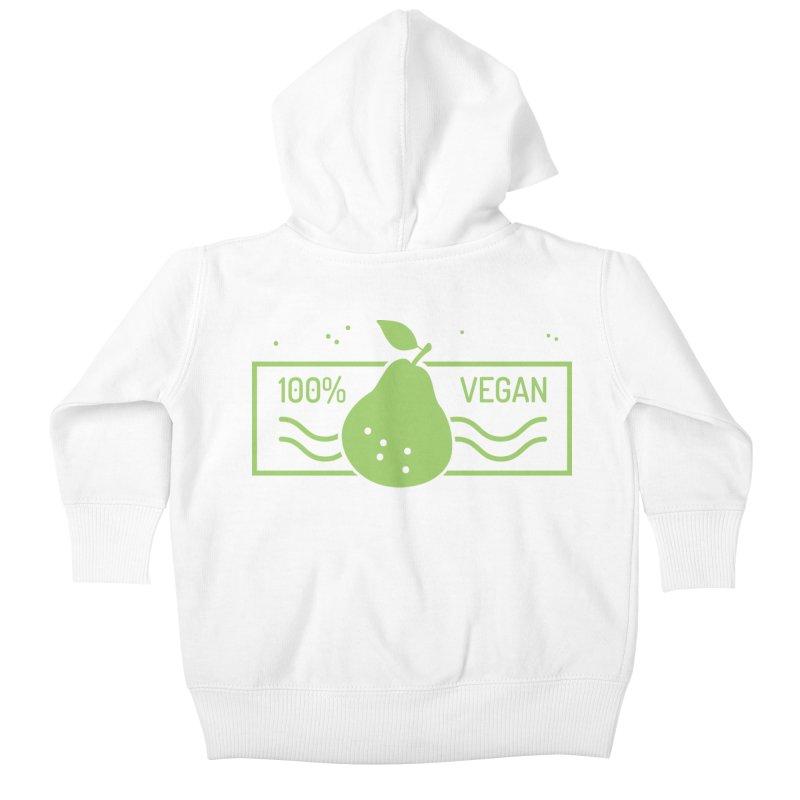 100% Vegan Kids Baby Zip-Up Hoody by WaWaTees Shop