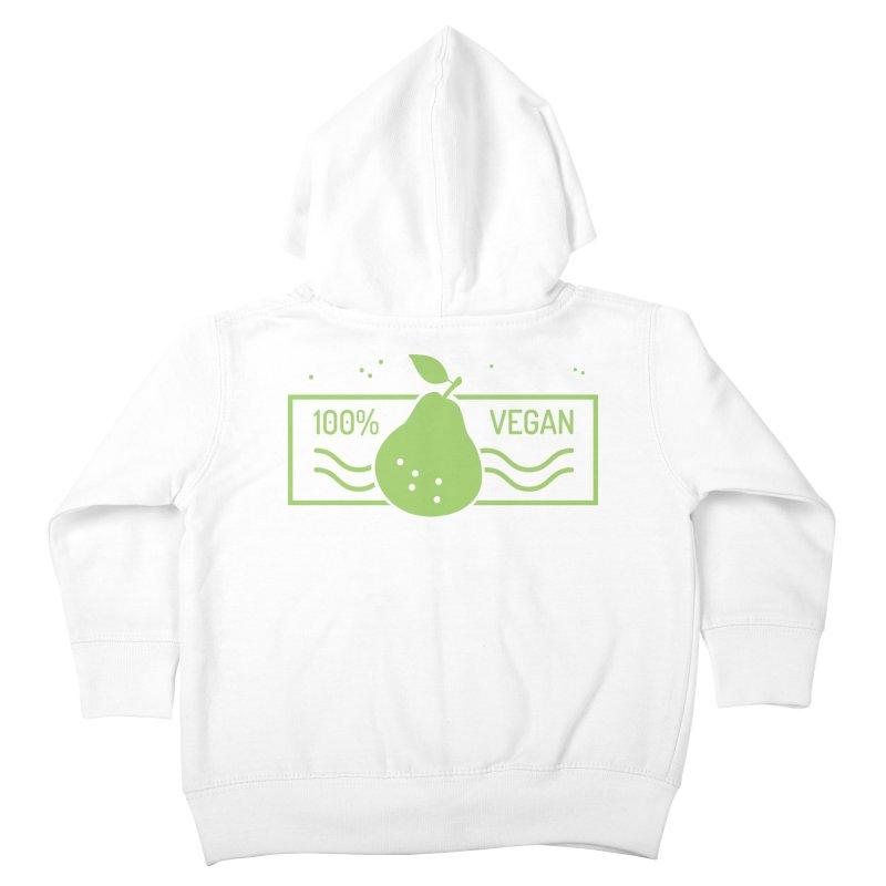 100% Vegan Kids Toddler Zip-Up Hoody by WaWaTees Shop