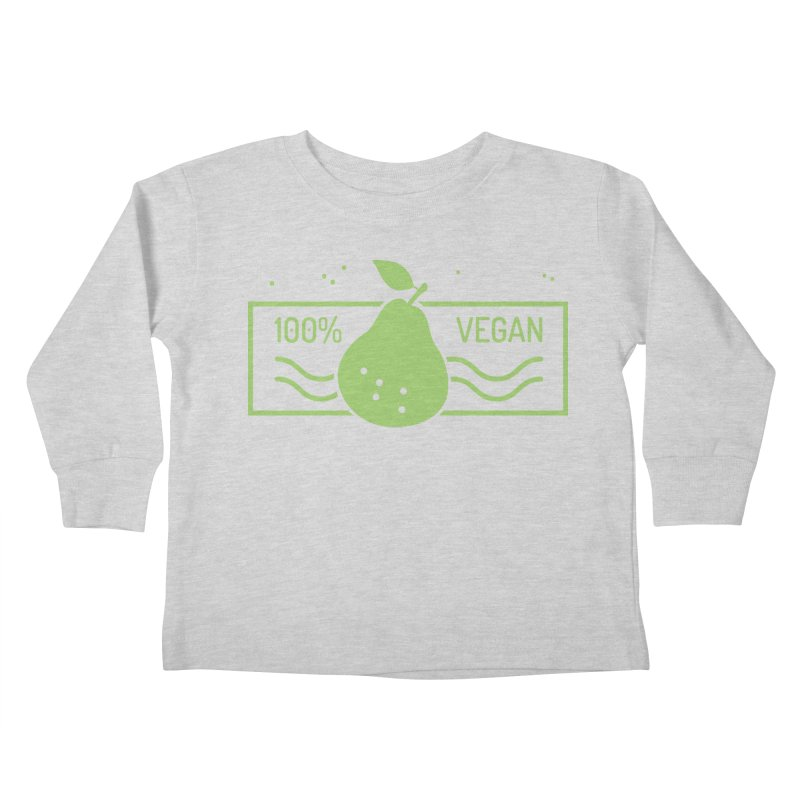 100% Vegan Kids Toddler Longsleeve T-Shirt by WaWaTees Shop