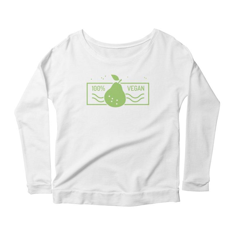 100% Vegan Women's Scoop Neck Longsleeve T-Shirt by WaWaTees Shop