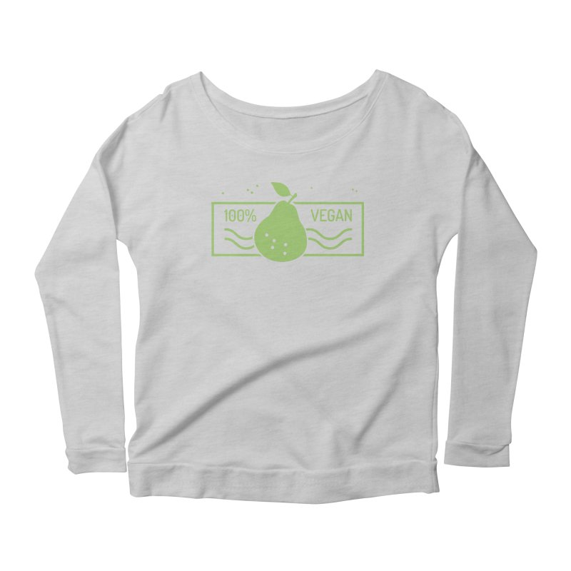 100% Vegan Women's Longsleeve Scoopneck  by WaWaTees Shop