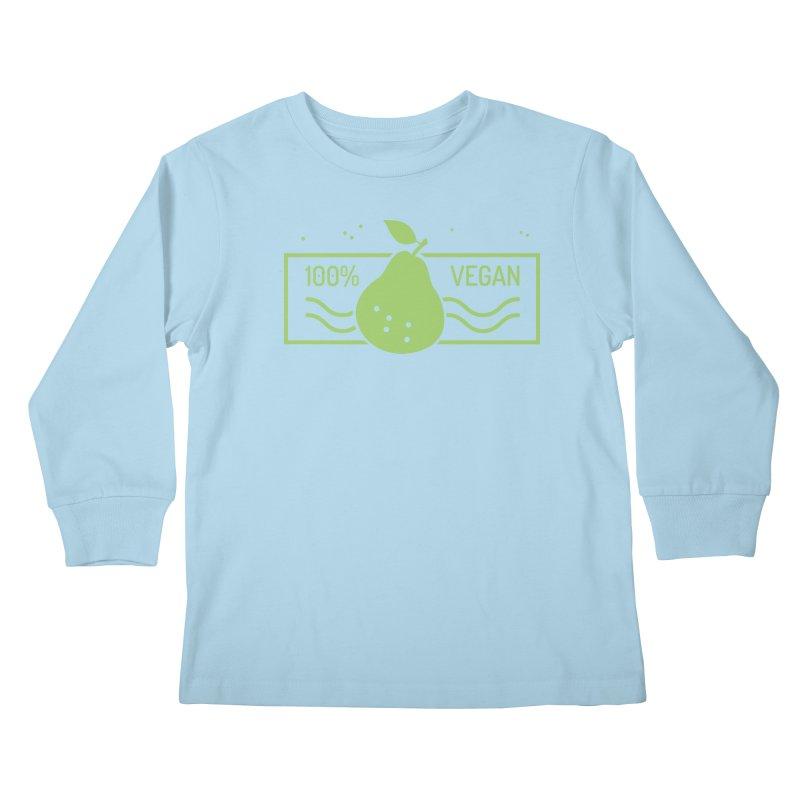 100% Vegan Kids Longsleeve T-Shirt by WaWaTees Shop