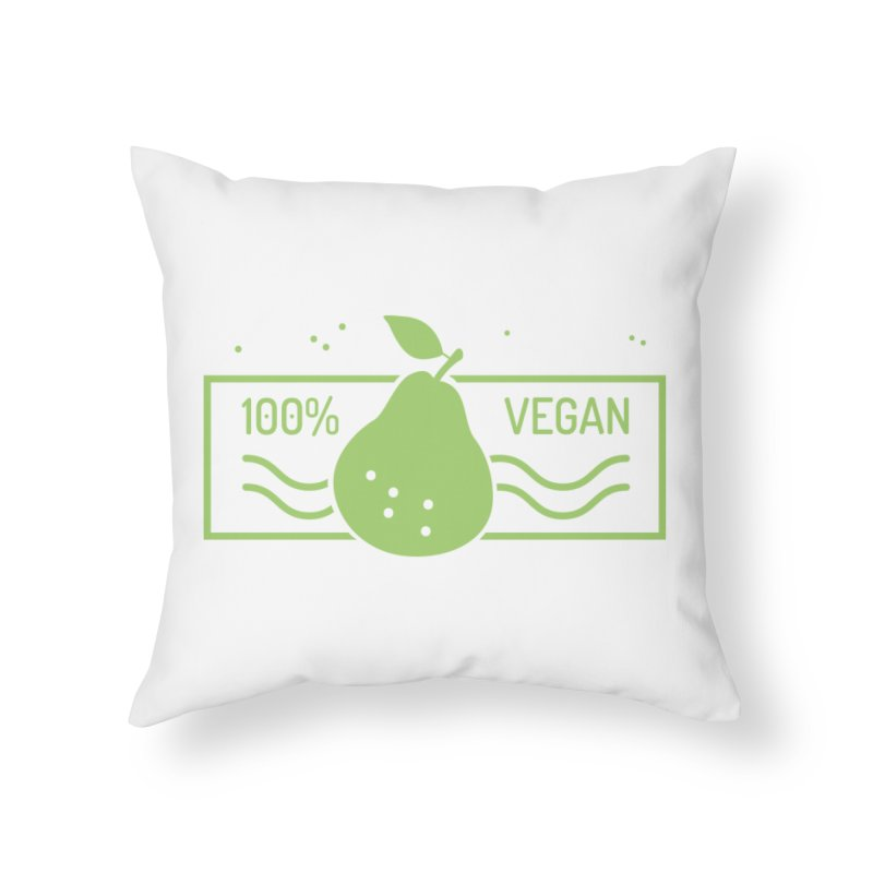 100% Vegan Home Throw Pillow by WaWaTees Shop