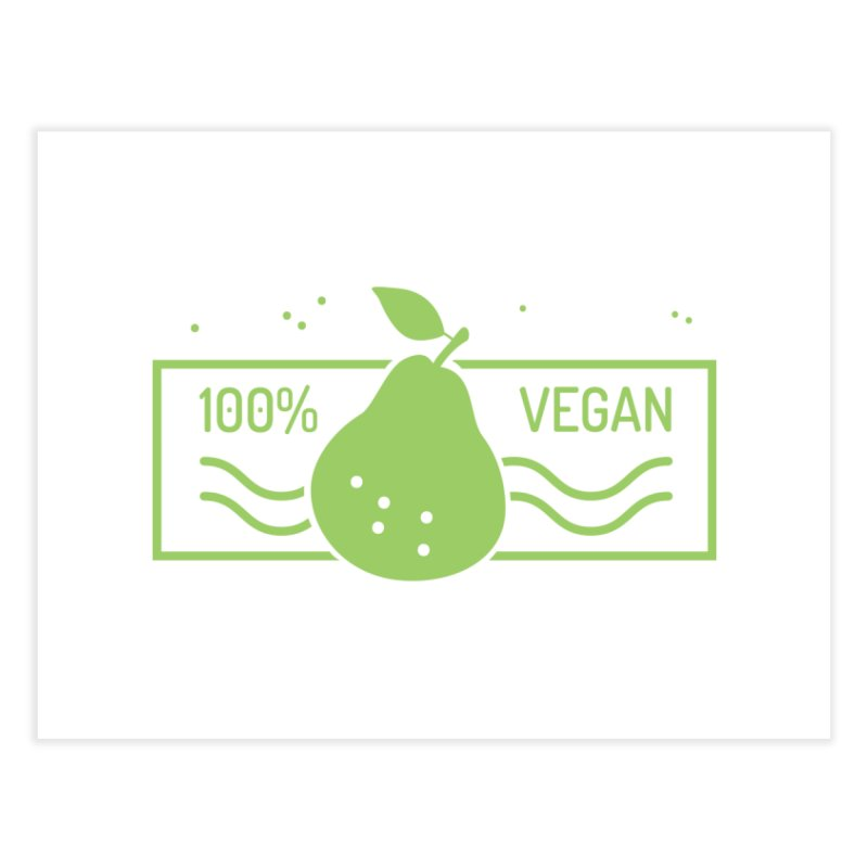 100% Vegan Home Fine Art Print by WaWaTees Shop