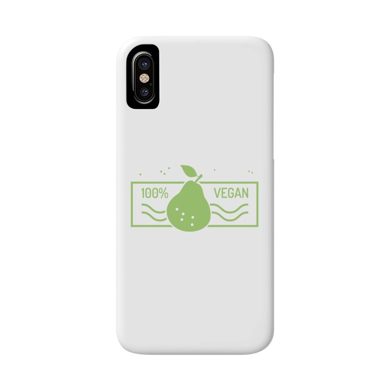 100% Vegan Accessories Phone Case by WaWaTees Shop