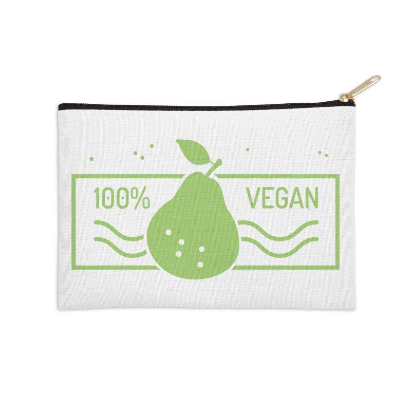 100% Vegan Accessories Zip Pouch by WaWaTees Shop