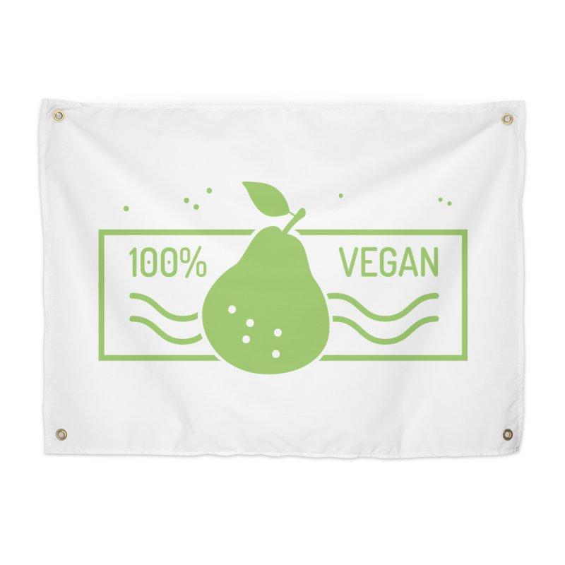 100% Vegan Home Tapestry by WaWaTees Shop