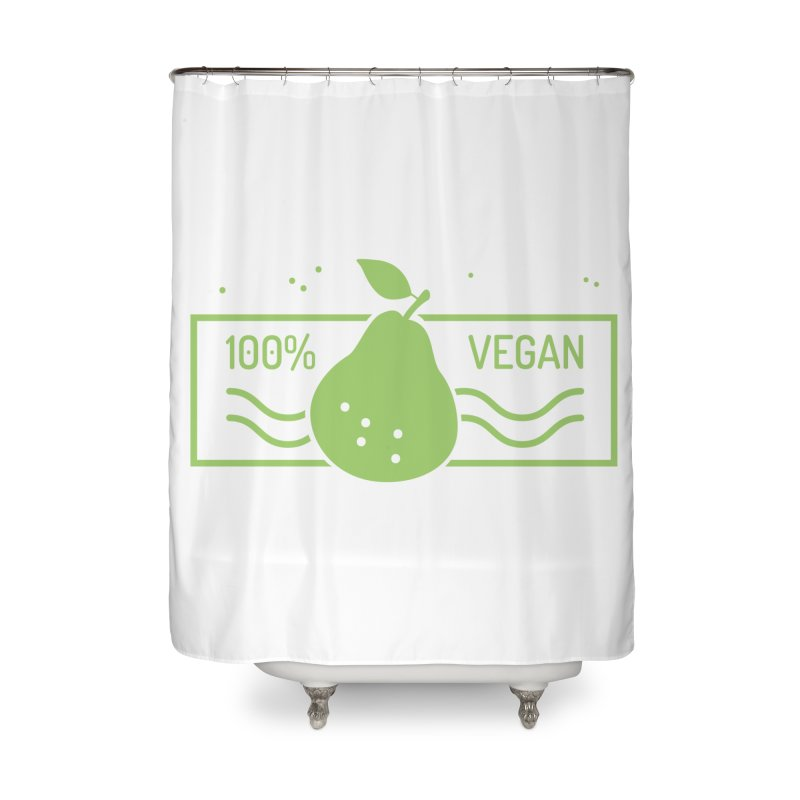 100% Vegan Home Shower Curtain by WaWaTees Shop