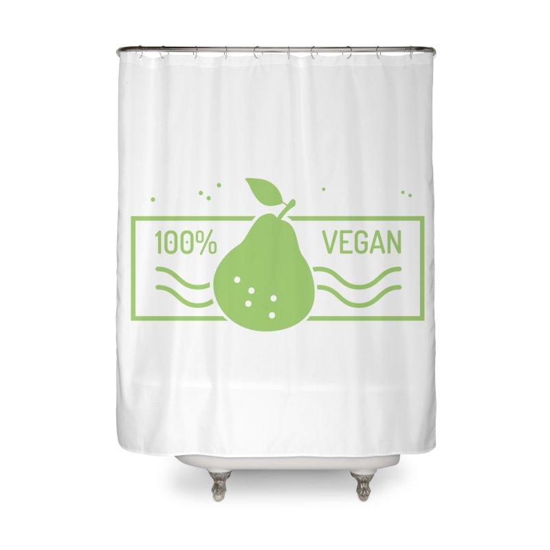 100% Vegan Home Shower Curtain by WaWaTees Shop