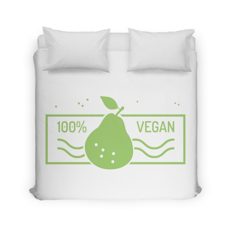 100% Vegan Home Duvet by WaWaTees Shop