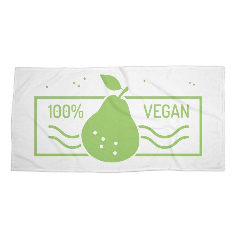 100% Vegan Accessories Beach Towel by WaWaTees Shop