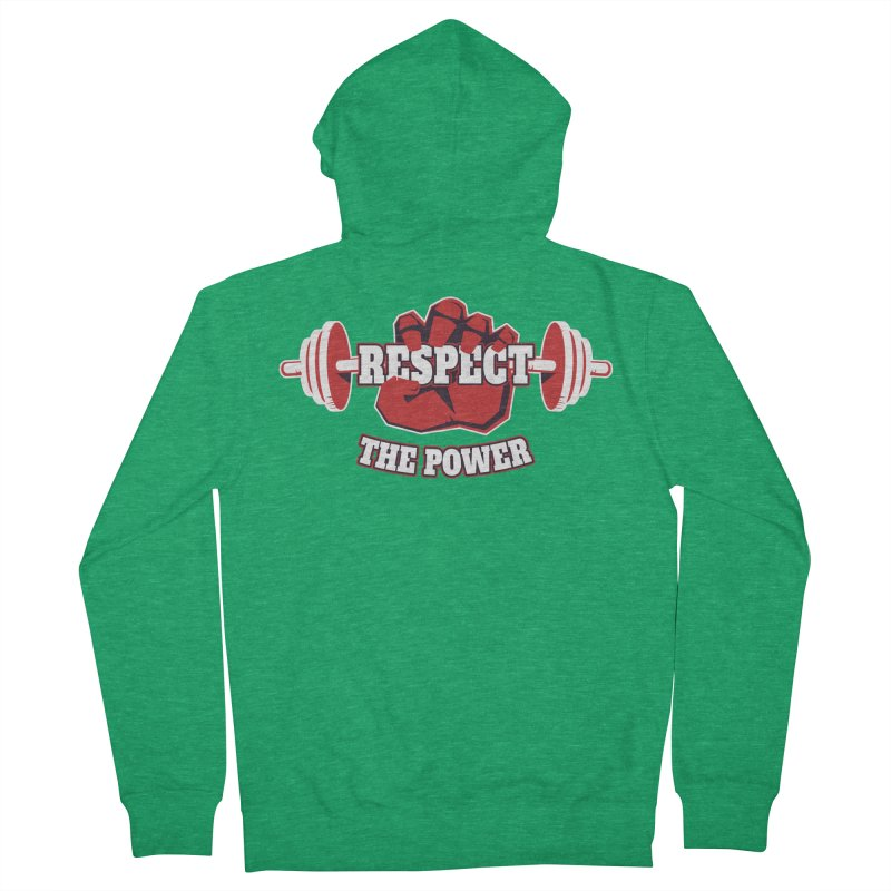 Respect The Power Men's Zip-Up Hoody by WaWaTees Shop