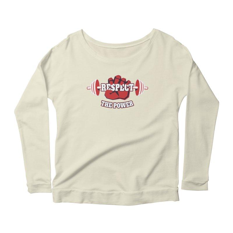Respect The Power Women's Scoop Neck Longsleeve T-Shirt by WaWaTees Shop