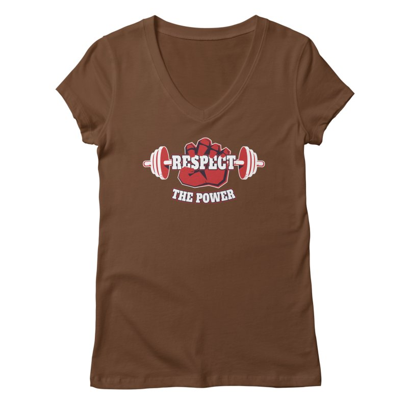 Respect The Power Women's Regular V-Neck by WaWaTees Shop