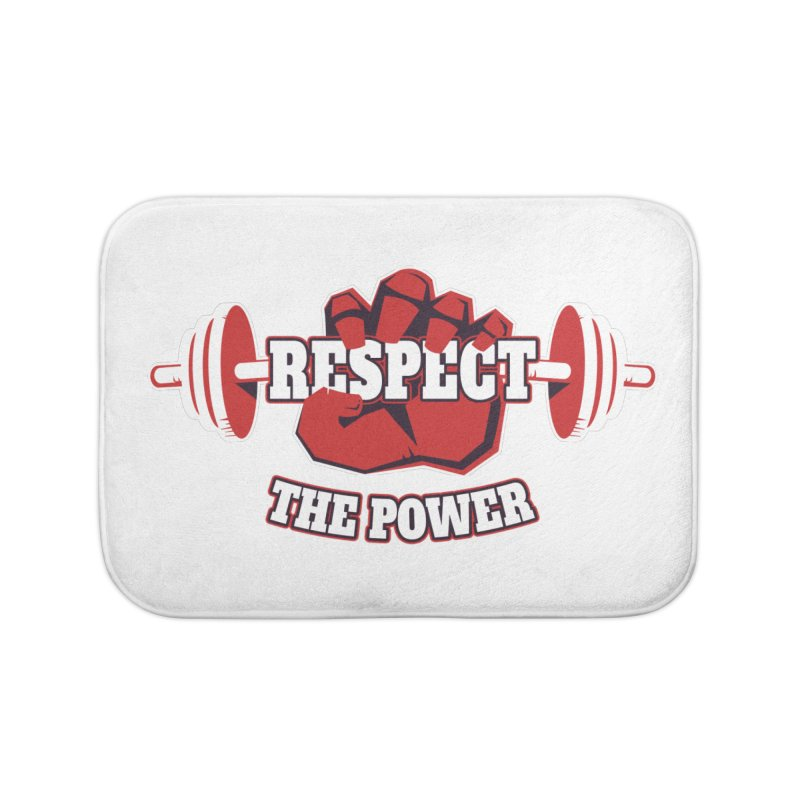 Respect The Power Home Bath Mat by WaWaTees Shop