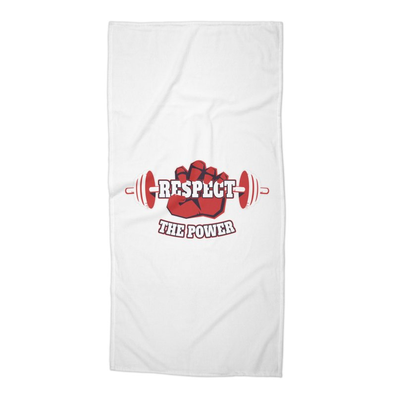 Respect The Power Accessories Beach Towel by WaWaTees Shop