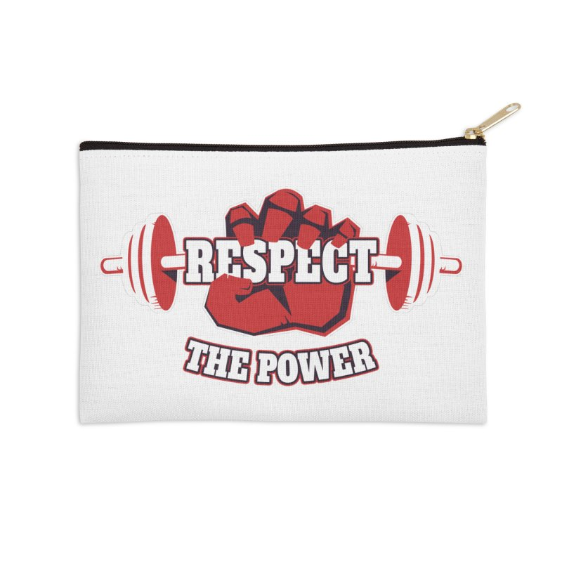 Respect The Power Accessories Zip Pouch by WaWaTees Shop