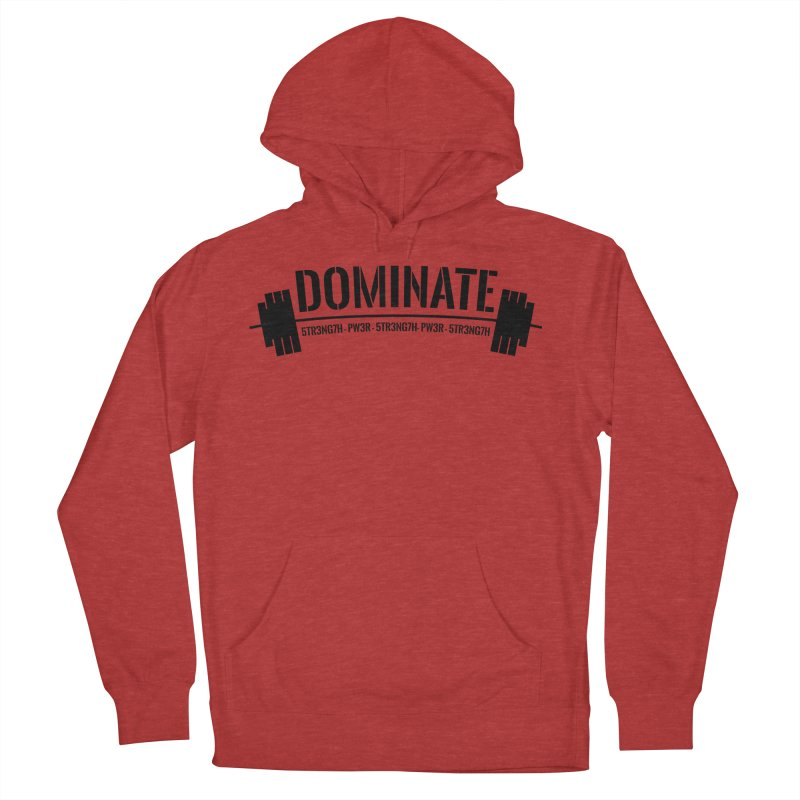 Dominate Gym (Black) Men's Pullover Hoody by WaWaTees Shop