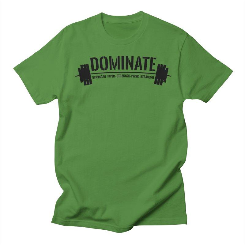 Dominate Gym (Black) Men's Regular T-Shirt by WaWaTees Shop