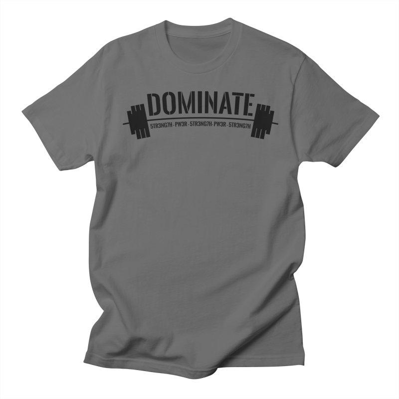 Dominate Gym (Black) Men's T-Shirt by WaWaTees Shop