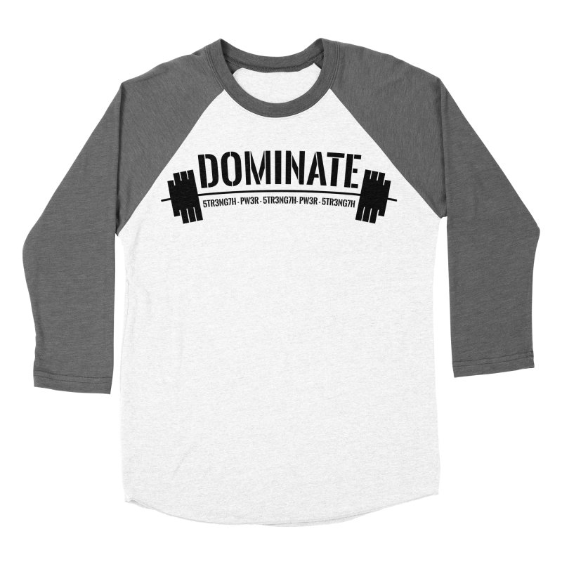 Dominate Gym (Black) Women's Baseball Triblend T-Shirt by WaWaTees Shop