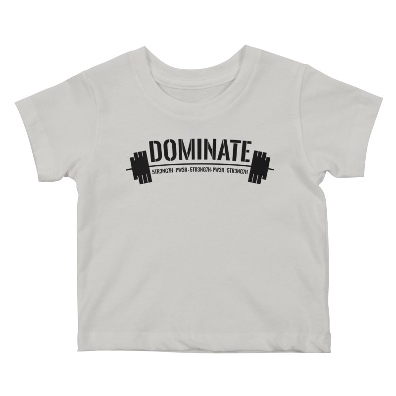 Dominate Gym (Black) Kids Baby T-Shirt by WaWaTees Shop