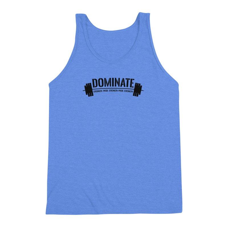 Dominate Gym (Black) Men's Triblend Tank by WaWaTees Shop