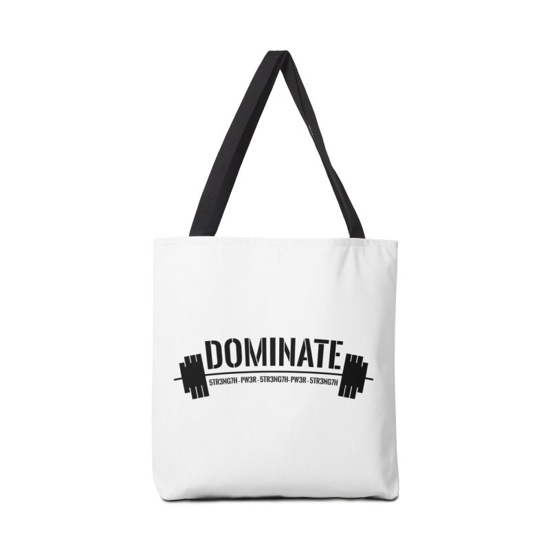 Dominate Gym (Black) Accessories Bag by WaWaTees Shop
