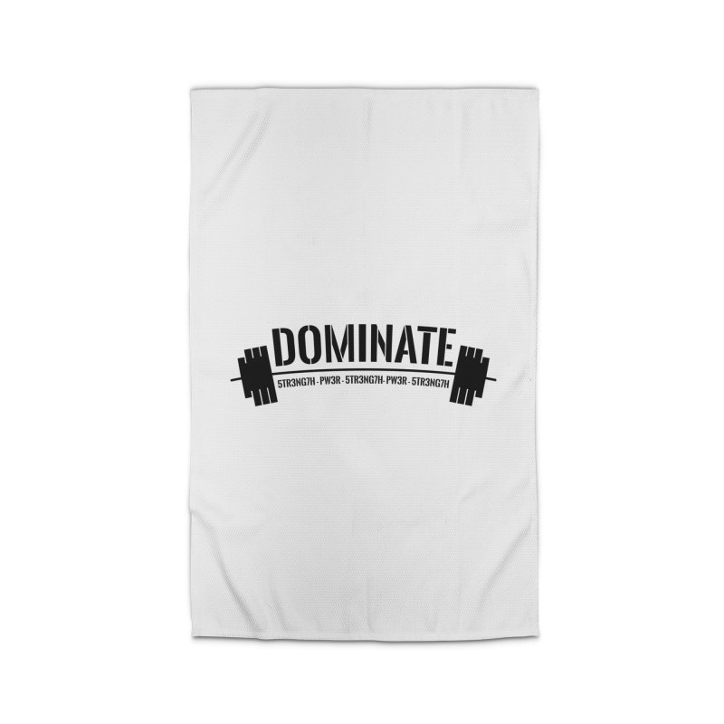 Dominate Gym (Black) Home Rug by WaWaTees Shop