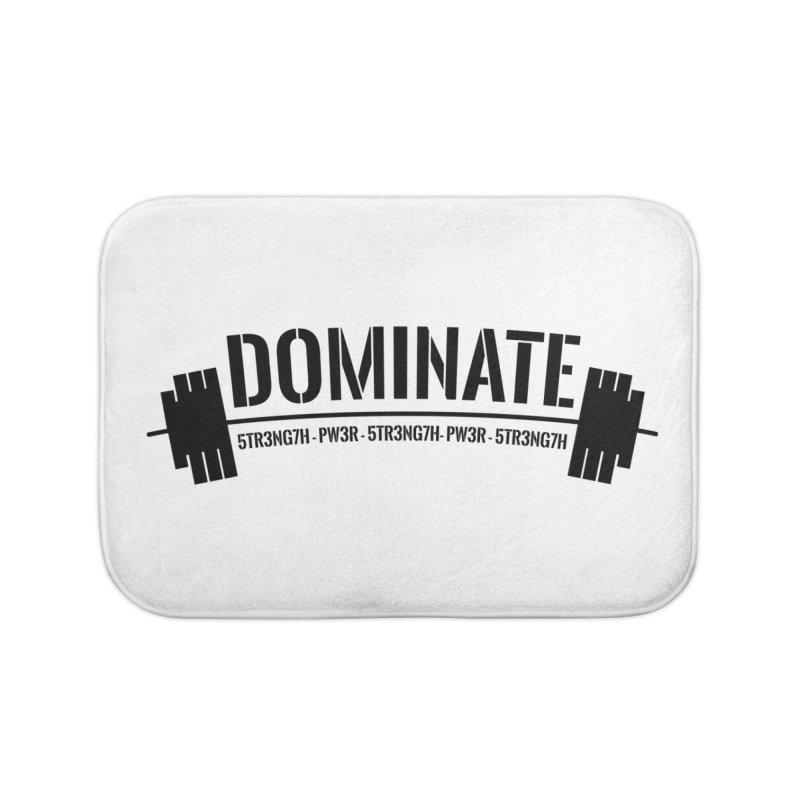 Dominate Gym (Black) Home Bath Mat by WaWaTees Shop