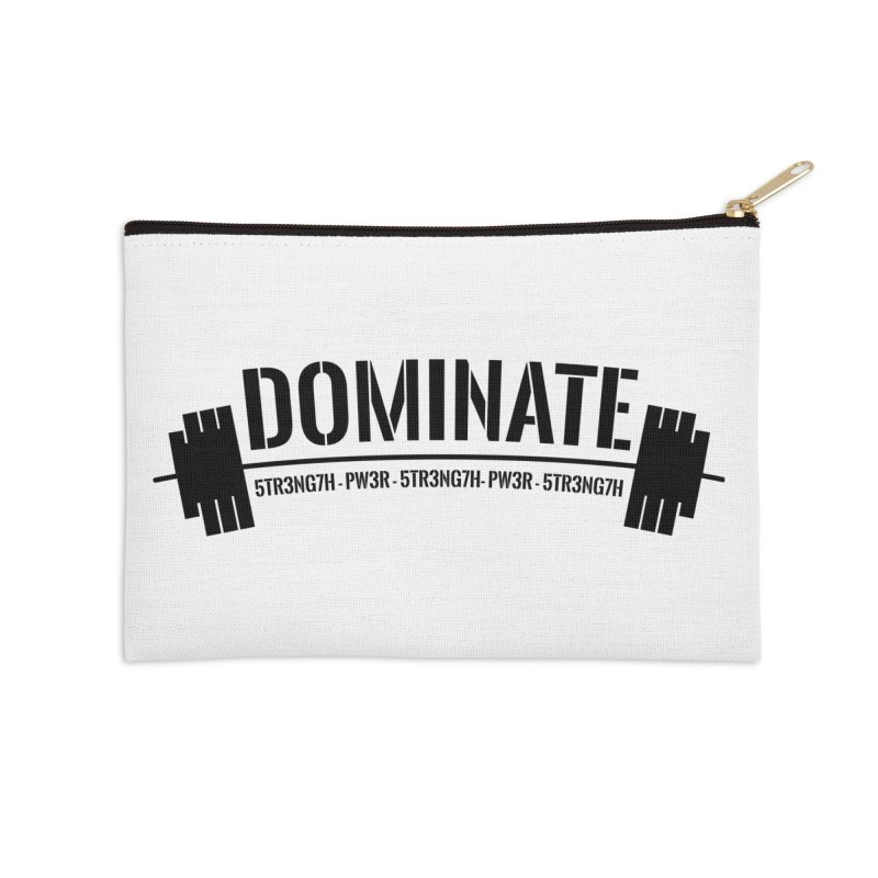 Dominate Gym (Black) Accessories Zip Pouch by WaWaTees Shop