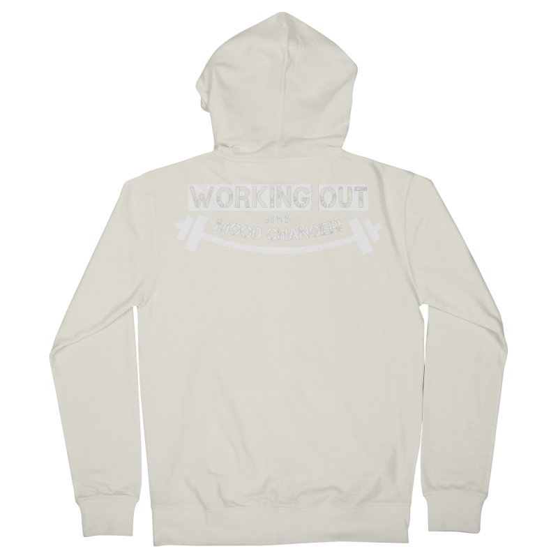 Mood Changer! (White) Women's French Terry Zip-Up Hoody by WaWaTees Shop