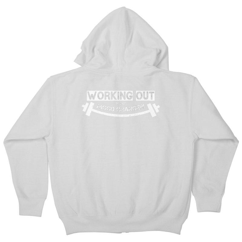 Mood Changer! (White) Kids Zip-Up Hoody by WaWaTees Shop