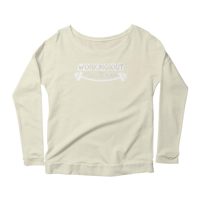 Mood Changer! (White) Women's Scoop Neck Longsleeve T-Shirt by WaWaTees Shop