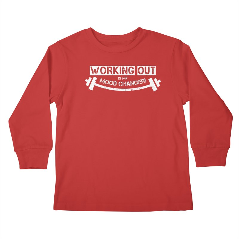 Mood Changer! (White) Kids Longsleeve T-Shirt by WaWaTees Shop