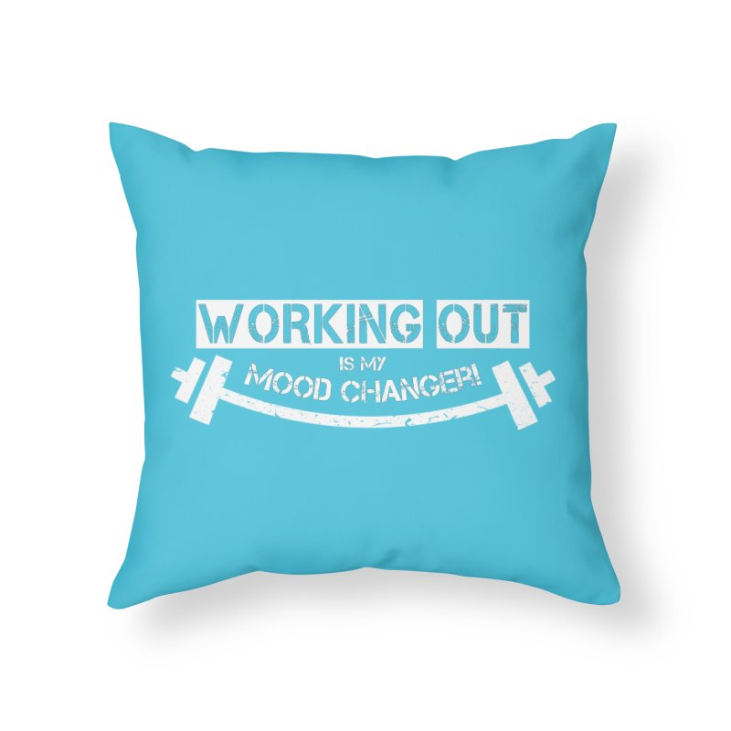 Mood Changer! (White) Home Throw Pillow by WaWaTees Shop