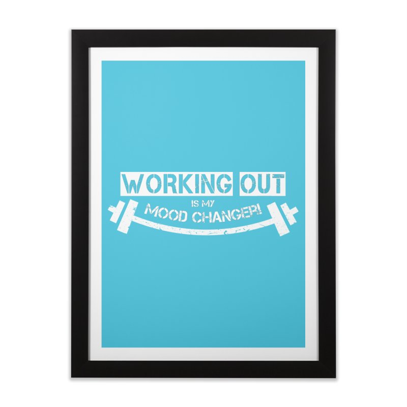 Mood Changer! (White) Home Framed Fine Art Print by WaWaTees Shop