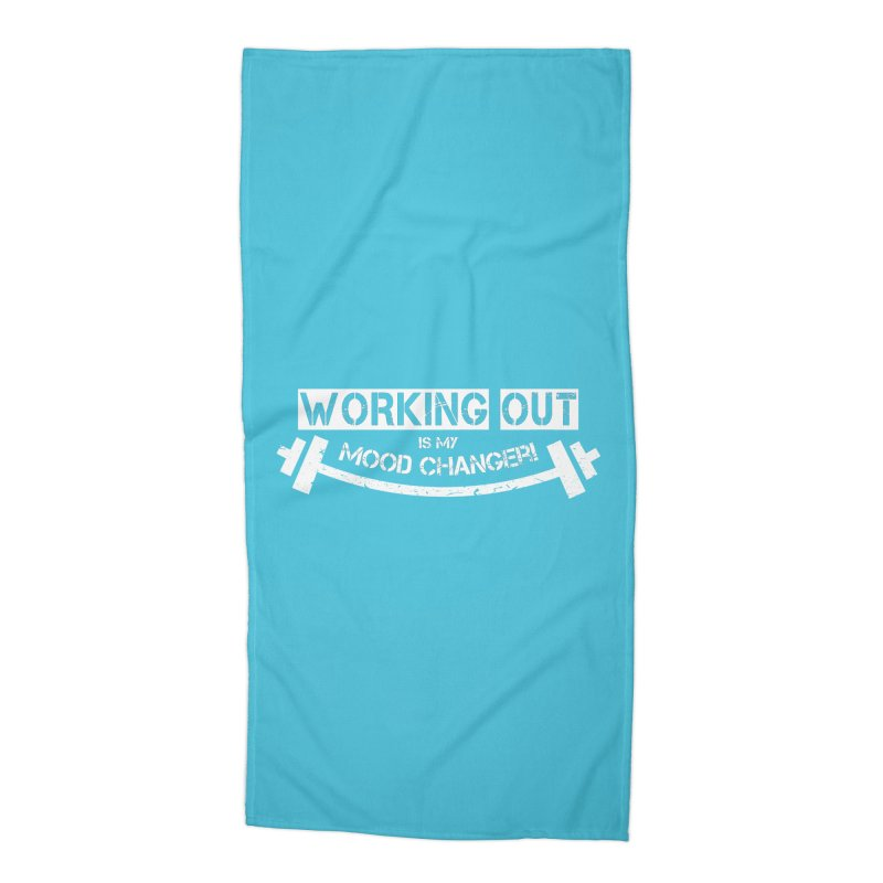 Mood Changer! (White) Accessories Beach Towel by WaWaTees Shop