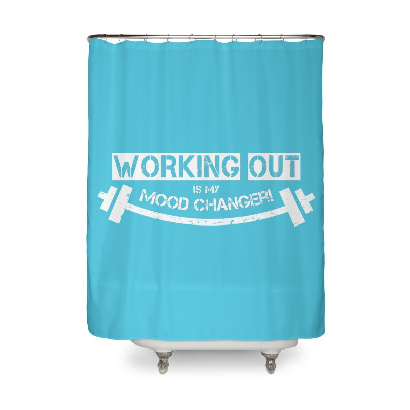Mood Changer! (White) Home Shower Curtain by WaWaTees Shop