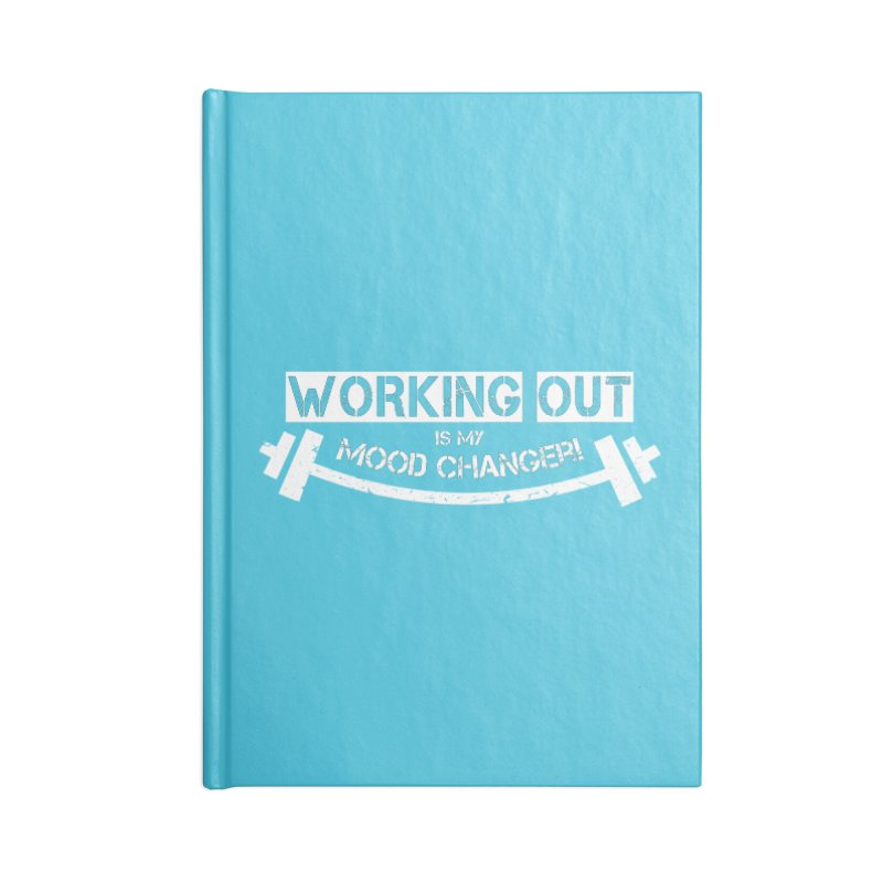Mood Changer! (White) Accessories Notebook by WaWaTees Shop