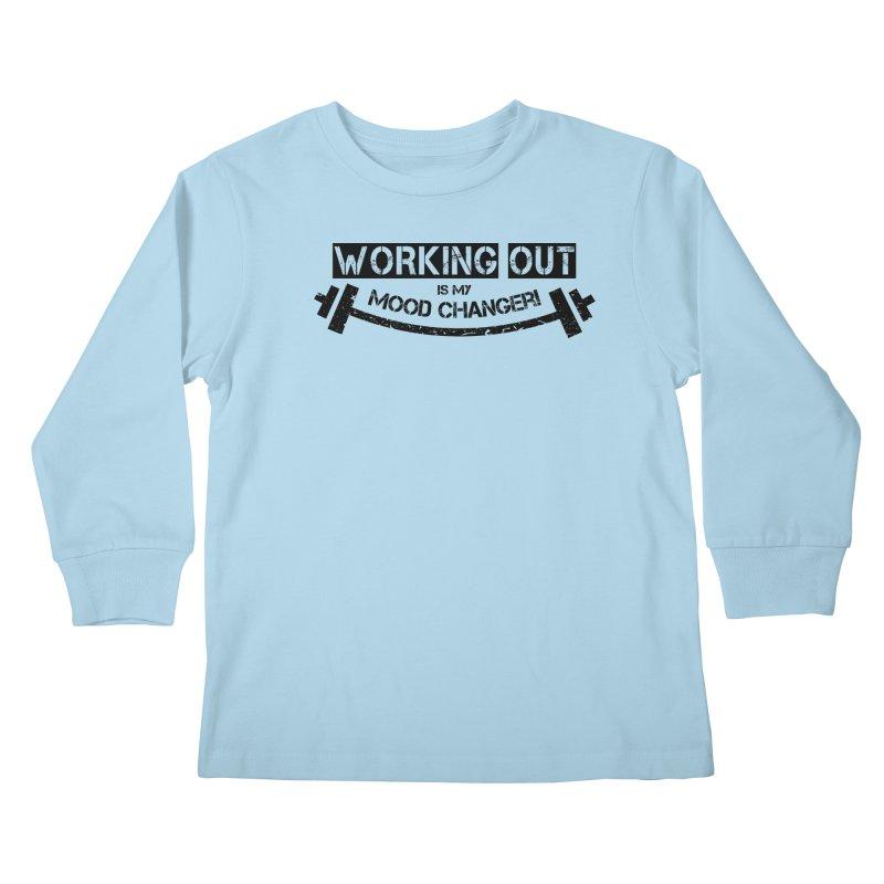 Mood Changer! (Black) Kids Longsleeve T-Shirt by WaWaTees Shop