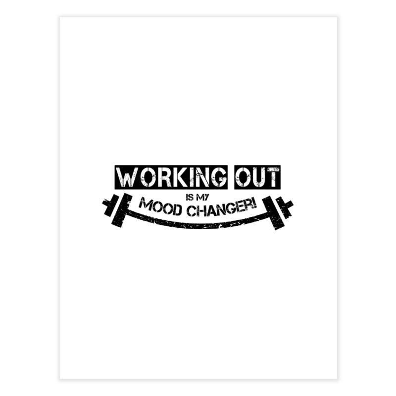 Mood Changer! (Black) Home Fine Art Print by WaWaTees Shop