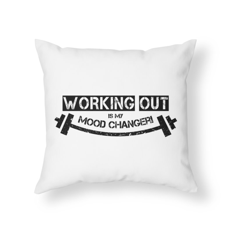 Mood Changer! (Black) Home Throw Pillow by WaWaTees Shop