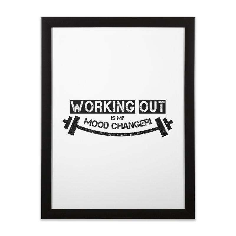 Mood Changer! (Black) Home Framed Fine Art Print by WaWaTees Shop