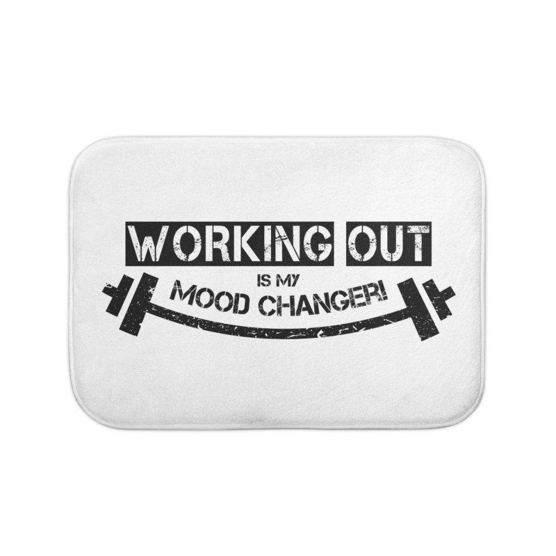 Mood Changer! (Black) Home Bath Mat by WaWaTees Shop
