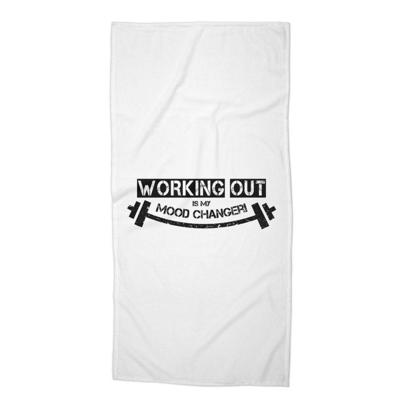 Mood Changer! (Black) Accessories Beach Towel by WaWaTees Shop